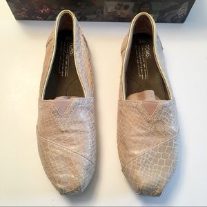 TOMS Limited Edition Leather Slip Ons